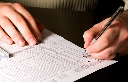 Signing the Tax Forms