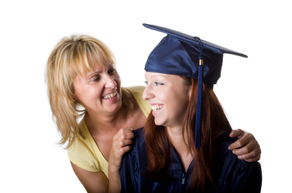 Mother with graduate