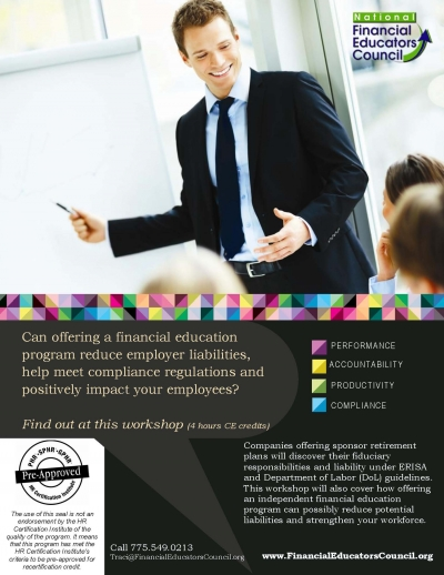ERISA Workshop Flier Page ERISA Training