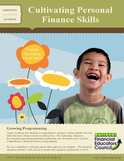 Student financial literacy advertisement