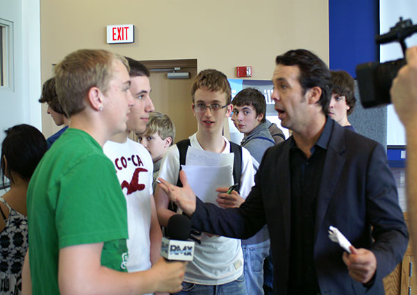 NFEC CEO Vince Shorb with student