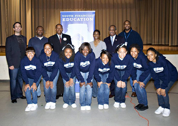 Vince Shorb with Raleigh-Mayor and Students
