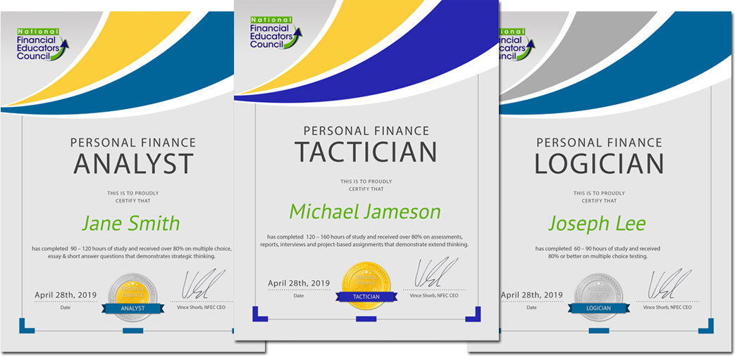 Personal Finance Certificates
