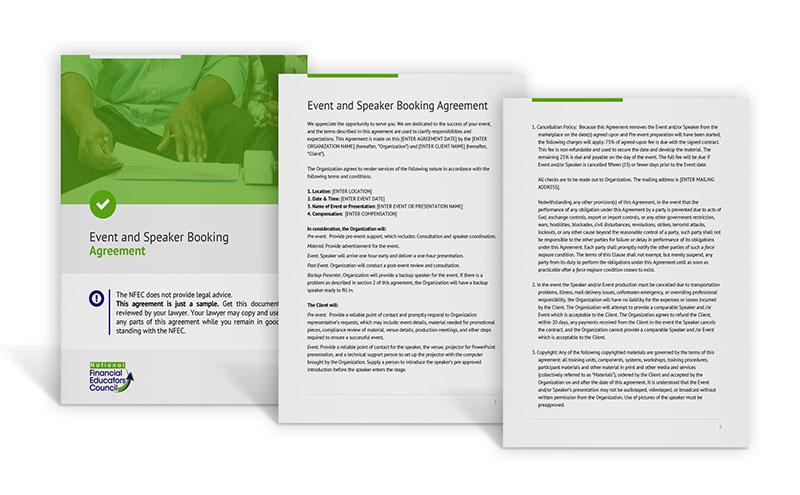 Sample Speaker Agreement Images Agreement Letter Format