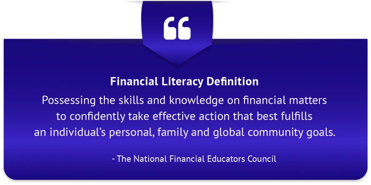 Suggestions for Financial Literacy Definition Qualifications