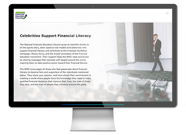 celebrity financial literacy initiative