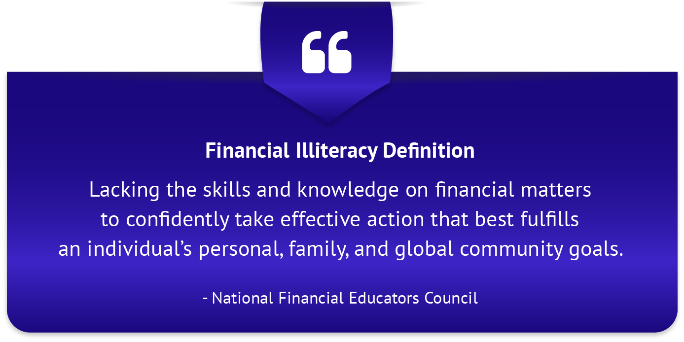 Financial Illiteracy Definition wide